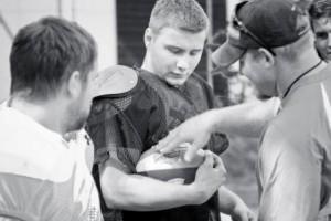 Football Player at Camp